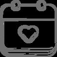 Heart Filled Calendar Icon