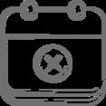 'X' Calendar Icon