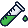 Dripping Test Tube Icon