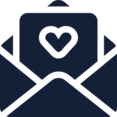 Heart in Opened Message Icon
