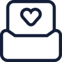 Heart in Inbox Icon