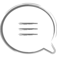Three Lined Speech Bubble Icon
