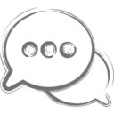 Dotted Two Speech Bubbles Icon