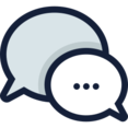 Two Speech Bubble Replying Icon