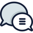 Lined Two Speech Bubbles Icon