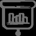 Bar Graph Presentation Icon