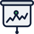 Line Graph Presentation Icon