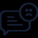 Sad Chat Bubble Icon