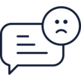 Sad Chat Bubble Icon
