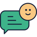 Happy Chat Bubble Icon
