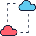 Two Clouds Data Icon