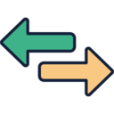Data Transfer Arrows Icon