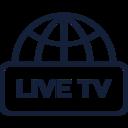 Live TV Globe Icon