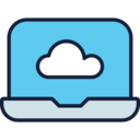 Cloud on Laptop Icon