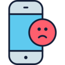 Sad Face Emoji Phone Icon