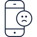 Sad Face Emoji Phone Icon