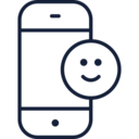 Happy Face Emoji Phone Icon