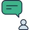 User Chat Bubble Icon