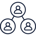 Three User Network Icon