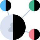 Four Bubble Network Icon