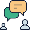 User Chat Bubbles Icon