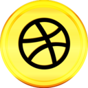 Gold Dribbble Icon