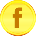 Gold Facebook Icon