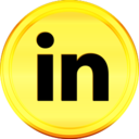 Gold Linkedin Icon