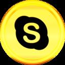 Gold Skype Icon