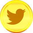 Gold Twitter Icon