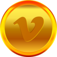 Gold Vimeo Icon