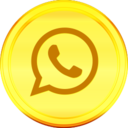 Golden Whatsapp Icon