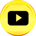 Gold YouTube Icon