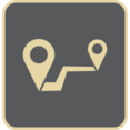 Vintage Flat Map Route Icon