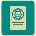 Vintage Flat Passport Icon