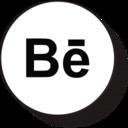 Retro Bēhance Icon