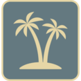 Vintage Palm Trees Icon