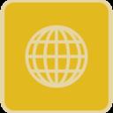 Vintage Flat Globe Icon
