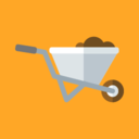 Flat Wheelbarrow Icon