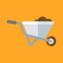 Flat Wheelbarrow Icon