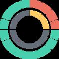 Round Chart Flat Icon