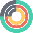 Round Chart with Multiple Layers Icon