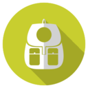Flat Backpack Icon
