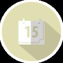 Flat Calendar Icon