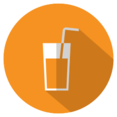 Flat Beverage Icon