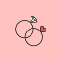 Wedding Rings Flat Icon