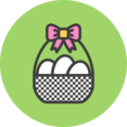 Easter Basket Flat Icon
