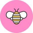 Bumble Bee Flat Icon