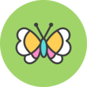 Butterfly Flat Icon
