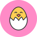 Hatching Chick Flat Icon